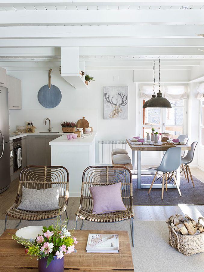 Semi abierta con puerta corredera | Cocinas pequeñas, Cocina ...