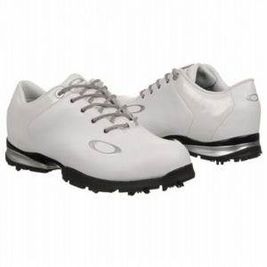 Mens Oakley EC1297596 Golf Cleats White Leather - ONLY $150.00