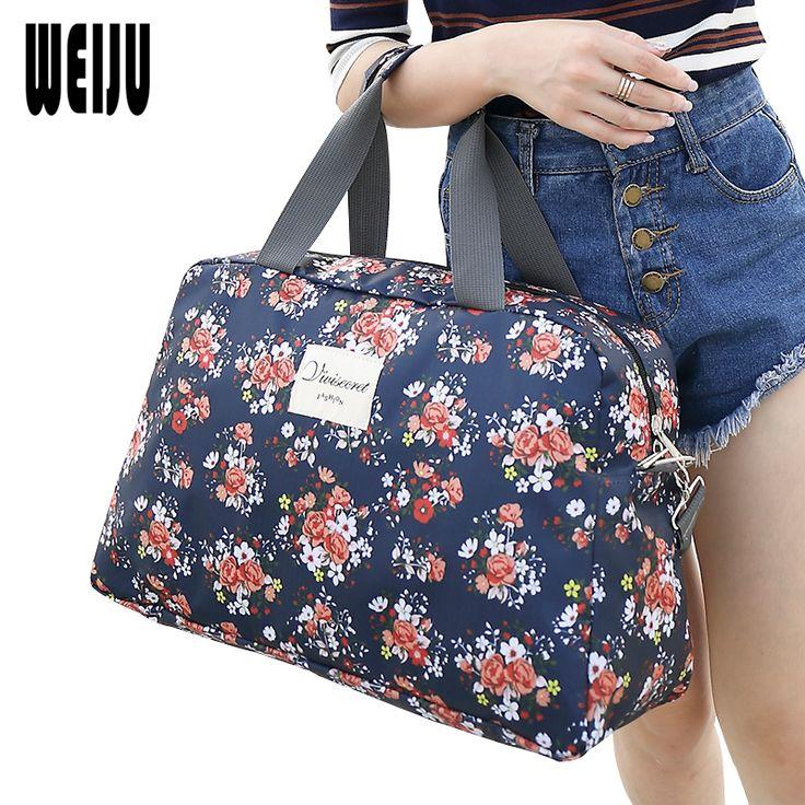 2016 New Fashion Women's Travel Bag Luggage Handbag Floral Print Women Travel Tote Bags Large Capacity Luggage Bags #women, #men, #hats, #watches, #belts, #fashion