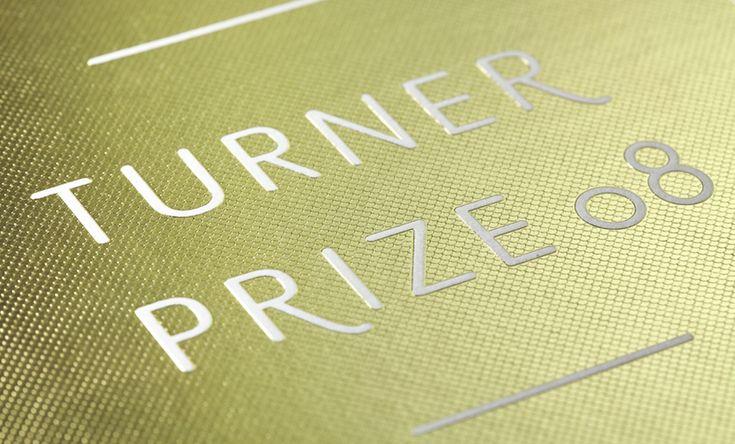 Turner Prize 2008  Invite: texture achieved with photo etched die