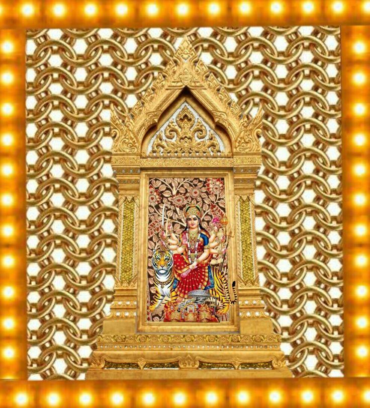 Navaratri durga. Light decoration