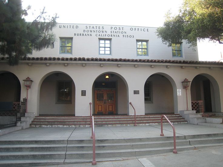Us Post Office Burbank Downtown Station In Los Angeles
