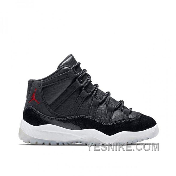 Preschool's Air Jordan 11 Retro 72-10 Black/Gym Red-White-Anthracite