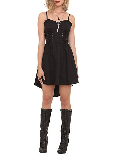 Royal Bones Black Skull Lace-Up Corset Dress | Hot Topic