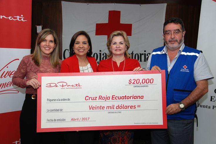 DE PRATI REALIZÓ DONACIÓN A CRUZ ROJA ECUATORIANA