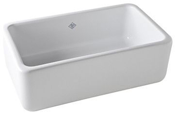 Rohl Shaws Sinks RC3018 Original Fireclay Apron Sink, White farmhouse-kitchen-sinks