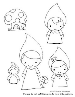 Paula's Palace of AltAred Art: SWEET GNOMES, ADORABLE EMBROIDERY PATTERNS...