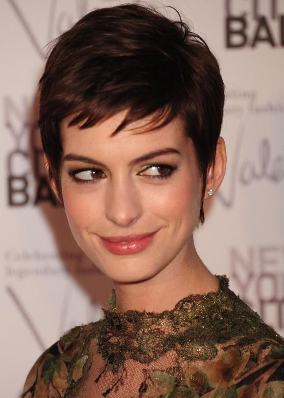 I think I'll do this. Anne Hathaway Short Hair 2013 Collection: Anne Hathaway Short Hairstyle ~ hair4tomorrow.com Celebrity Hairstyles Inspiration.