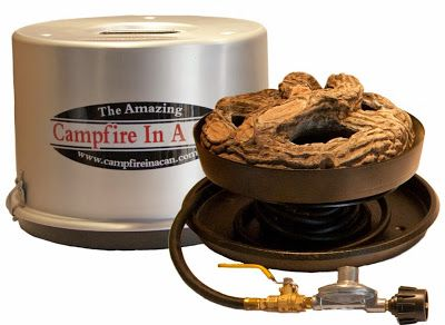 Campfire In A Can Portable Propane Outdoor Fire Pit Patio Heater For Those No Burn Days