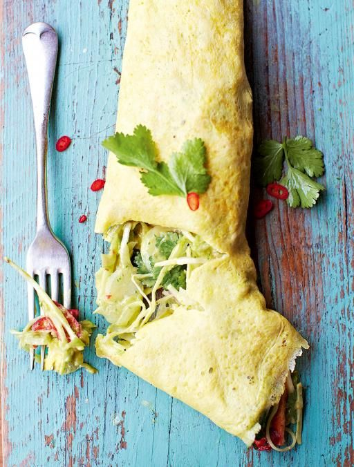 Mexican Filled Omelette:  For a quick and easy meal that's also super-tasty and fulfilling, this omelette recipe is just the ticket | Jamie Oliver