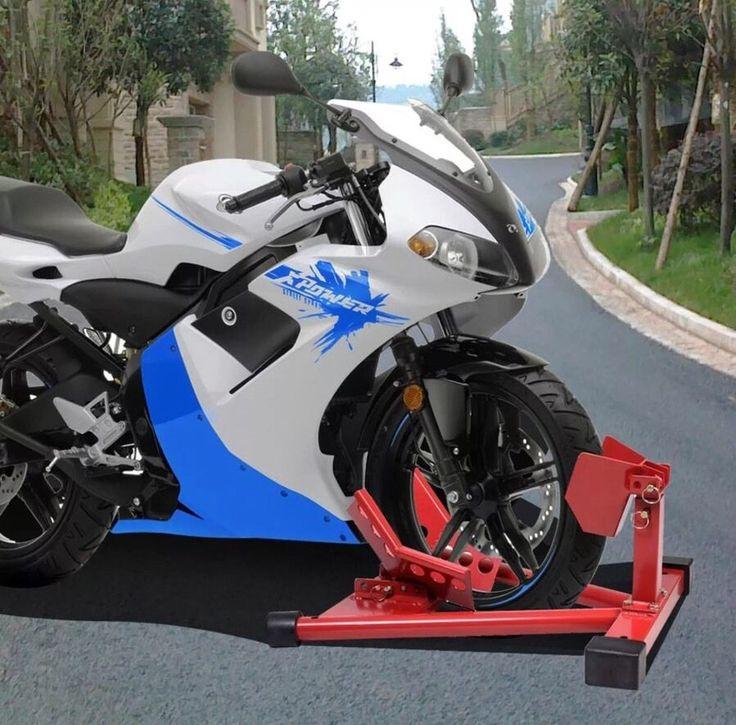 Motorcycle Sport Bike Front Wheel Chock Lift Stand For Auto Bike Shop/Garage  | eBay