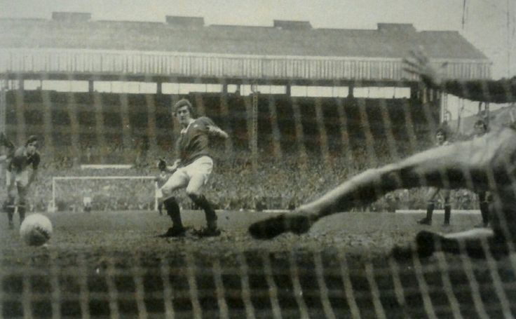Man Utd 2 Oxford Utd 1 in Jan 1976 at Old Trafford. Gerry Daly scores his 2nd penalty and the winner in the FA Cup 3rd Round.