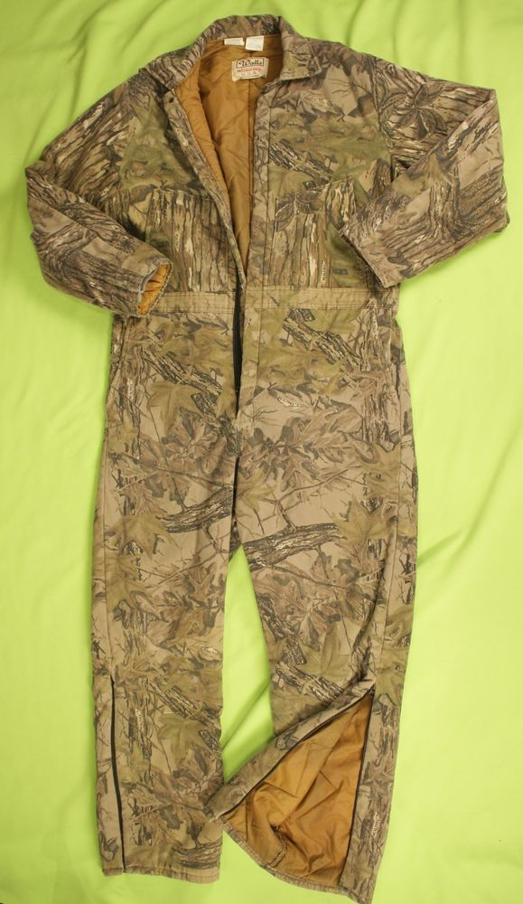 Vintage Walls Blizzard Pruf Camo Coveralls Usa Made Insulated Xl