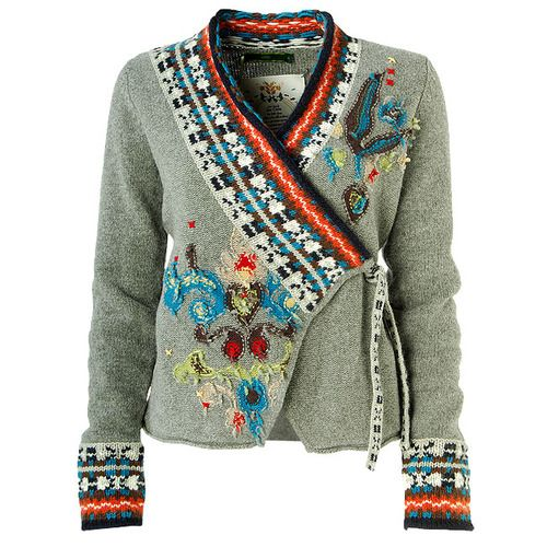 Cardi jacquard knit and embroidery...