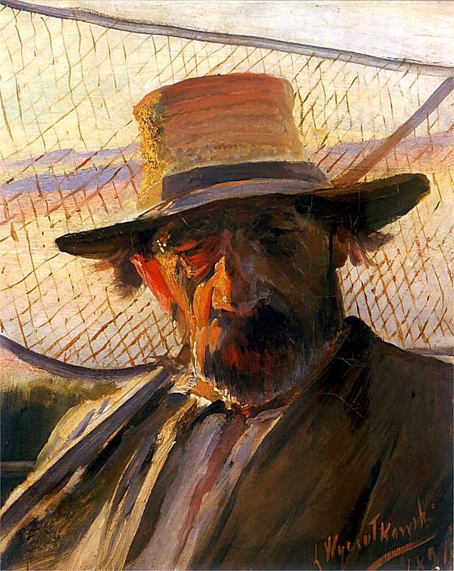 Leon Jan Wyczolkowski (1852-1936) - Fisherman, 1891
