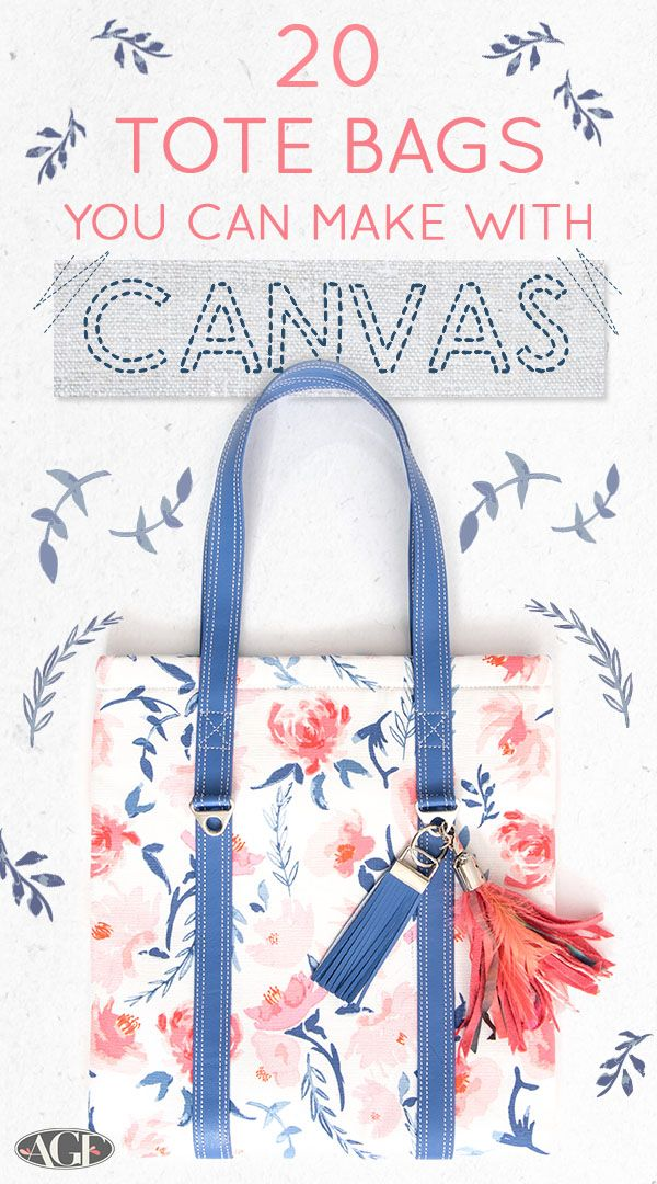 20 Tote Bags You Can Make with AGF Canvas & Dritz Notions
