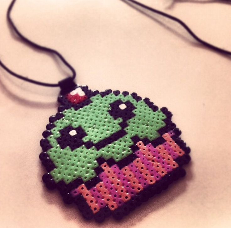 Cupcake necklace made of mini beads and made by my boyfriend <3