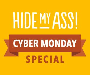 HideMyAss Discount Up to 65%  for CYBER MONDAY Special !!  Duration:For one day only – CYBER MONDAY!. That is a once-a-year opportunity for saving up to 65% on 1 months package only $3.99 per month. Just Catch it!  CYBER MONDAY Special 2014 Details  1 month:  $11.52 > $9.99 (13% saving)  6 months: $69.12 > $39.99 (42% saving)  12 months: $138.24 > $47.88 – ONLY $3.99pm (65% saving)  http://www.bestvpnserver.com/hidemyass/