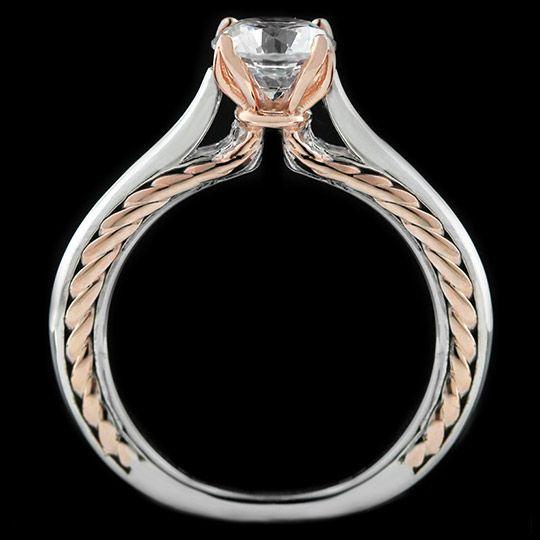 Burnside Two Tone Engagement Ring | MiaDonna.com