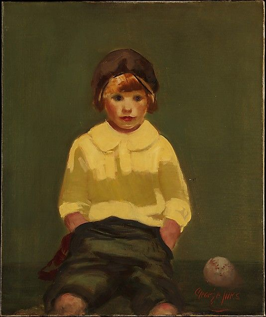 George Luks (American, 1866–1933). Boy with Baseball, ca. 1925. The Metropolitan Museum of Art, New York. The Edward Joseph Gallagher III Memorial Collection, Gift of Edward Joseph Gallagher, Jr., 1954 (54.10.2) #kids #metkids