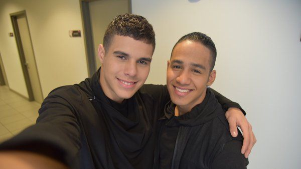 Zabdiel & Richard selfietime at the backstage of Nuestra Belleza Latina VIP 2016
