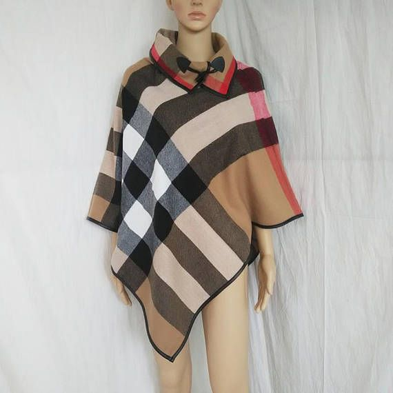 New Women Clothes Fashion Cashmere Oversized Sweater Plaid
