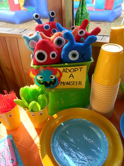 Adopt a Monster Party Favors from a Little Monster Party #monsterparty #favors