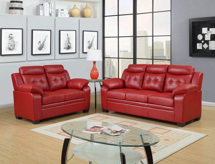 Small Red Leather sofa - Popular Interior Paint Colors Check more at http://www.freshtalknetwork.com/small-red-leather-sofa/