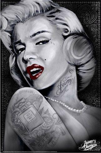 191 best henrietta images on pinterest elvis presley for Marilyn monroe with tattoos poster