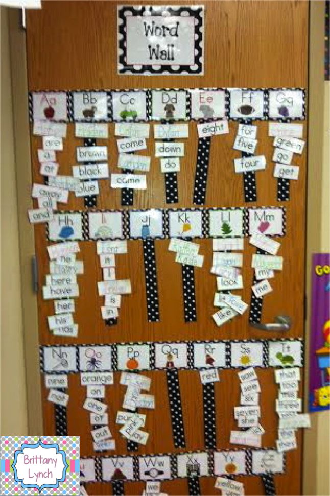 This interactive word wall is a great way to get students to use the word wall more and learn alphabetical order