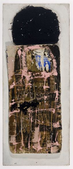 Peter Lanyon Pink I 1959  Painted wood on board  17 ½ x 7 inches