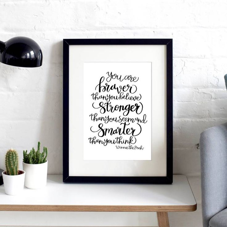 'Stronger Than You Think' Typographic Print