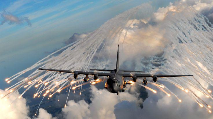 The Lockheed AC-130 gunship.