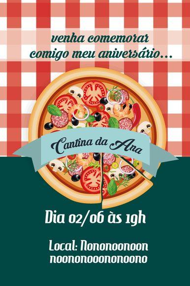 Convite virtual com o tema de Festa Italiana, Pizza, Massas  para chá de panela, aniversário. Infantil ou Adulto    Envio arquivo em resolução de tela, por email para ser enviado em redes sociais e whatsapp. arquivo em .jpg