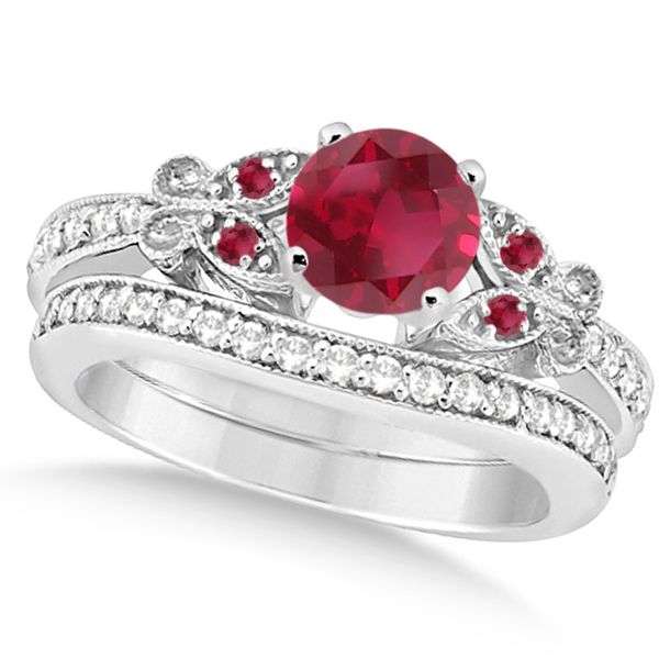 69 best Ruby Engagement Rings images on Pinterest Rubies and
