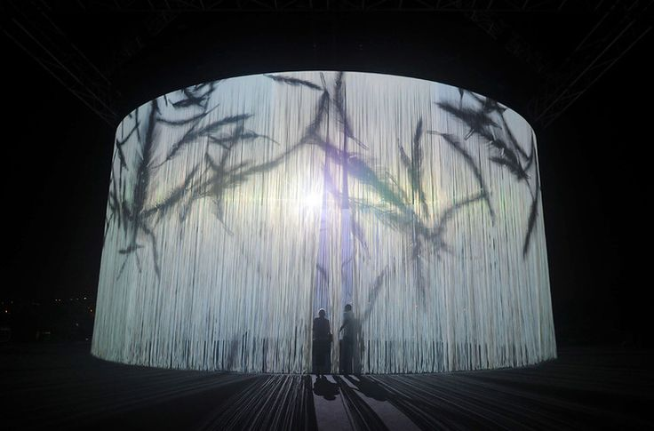 A 3-D Theater That Immerses You In Projection Art #technology