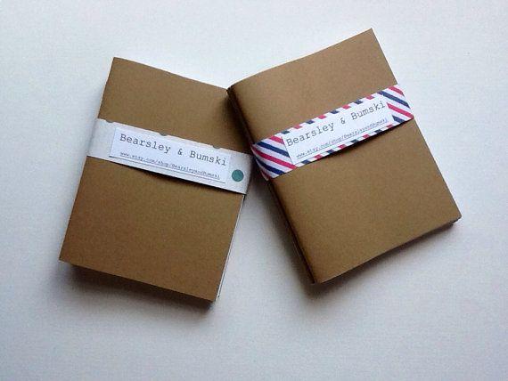 3 Luxurious Kraft Notebooks/Cahiers Moleskin by BearsleyandBumski, $5.00