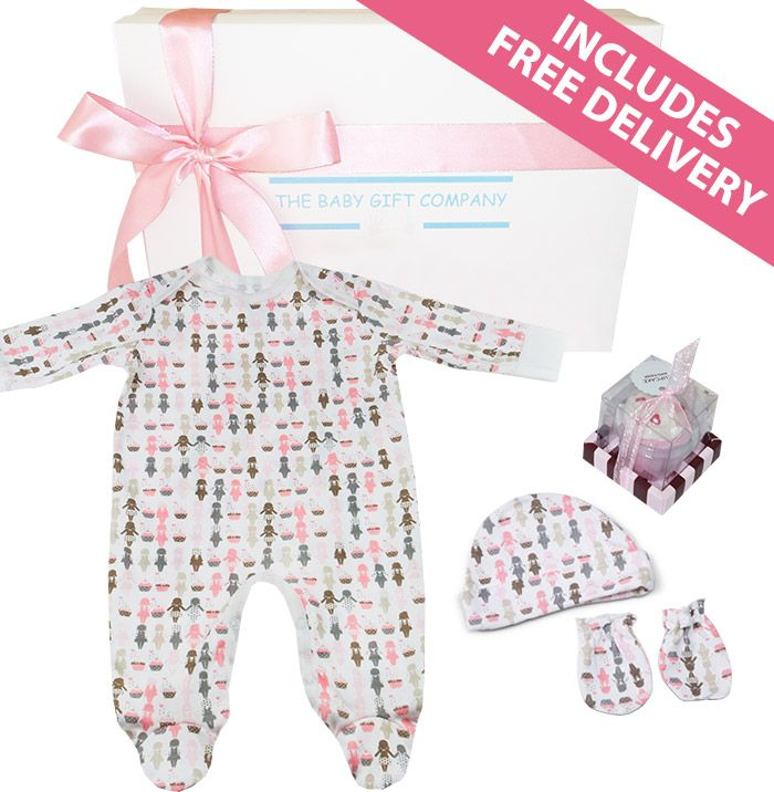 Celebrate the arrival of a special newborn baby girl with our New Arrival Baby Gift Basket with free delivery
