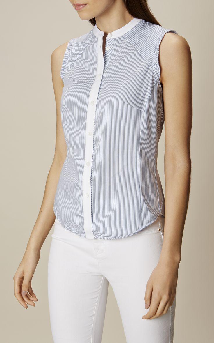 Karen Millen, Chemise sans manches Bleu/multicolore