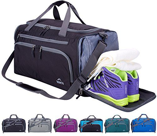 e6be0cda335c Venture Pal Packable Sports Gym Bag Wet Pocket & Shoes Compartment ...