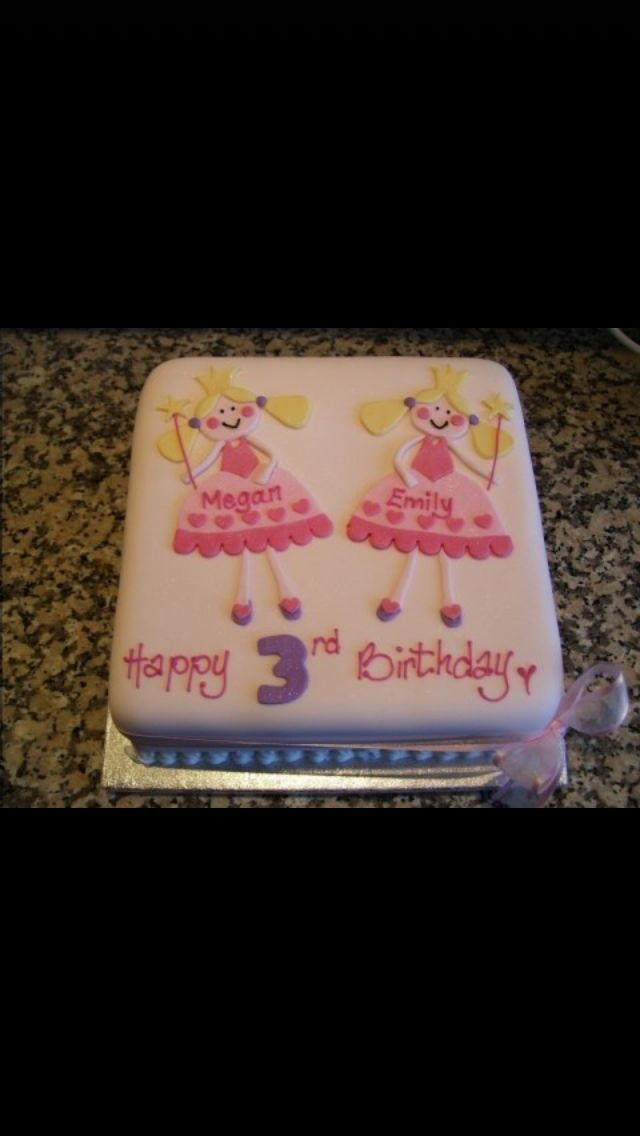 My daughters princess party with her friend birthday cake