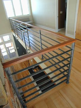 Best Contempoary Stair Railing Modern Staircase Milwaukee 400 x 300