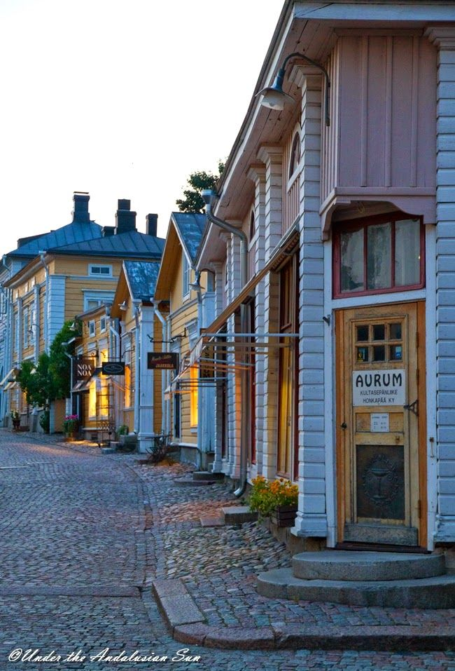 Porvoo is a smalltown on southern coast and it has a very picturesque old town. really charming, where you can feel the atmosphere of lovely wooden houses of yesterday, now used as apartments, shops, and cafés.