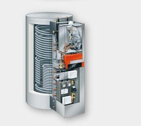 Vitosolar 300-F ist eine leistungsstarke Unit zur solaren Heizungsunterstützung und Trinkwassererwärmung. Die Einheit besteht aus einem 750-Liter-Kombispeicher mit einem vorverrohrten Grundträger zum direkten Anbau eines Gas-Brennwert-Wandgeräts.     Montagefreundlich und komplett   Vitosolar 300-F ist ab Werk für eine problemlose Installation vorbereitet: Die Montagekonsole ist bereits mit Heizkreisverteilung, Solar-Divicon, wärmegedämmten Rohrleitungen und Absperrventilen vormontiert.