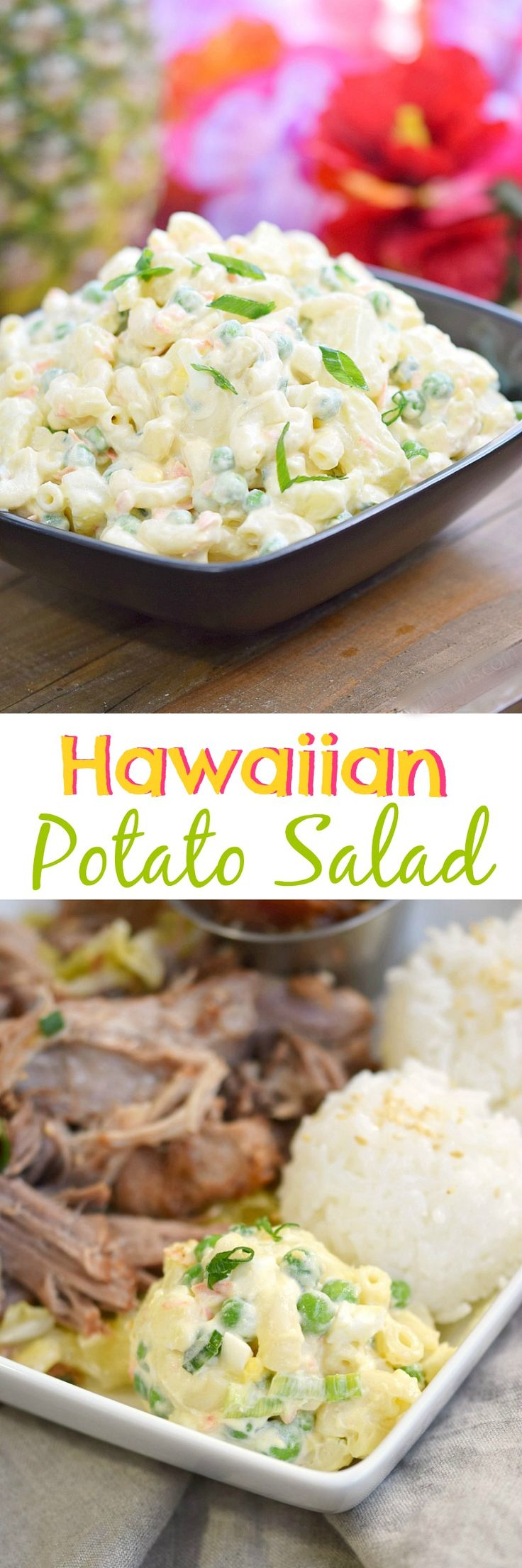 You can't have a luau or bento lunch without a scoop of this traditional Hawaiian Potato Salad on the side | cookingwithcurls.com
