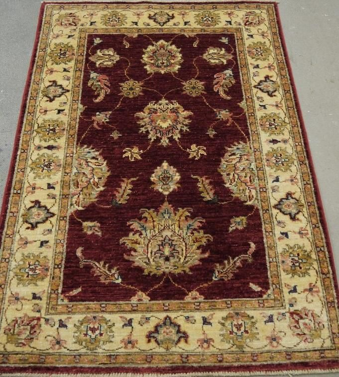 "NR: 19266 Location: Chobi Ziegler  Size: 4'0"" x 2'8"" Country: Afghanistan Pile: Wool Base: Cotton"