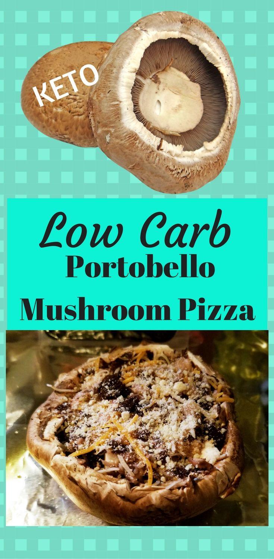 Low Carb Portobella Mushroon Pizza Recipe. Easy, keto, paleo and delish! #ketodiet