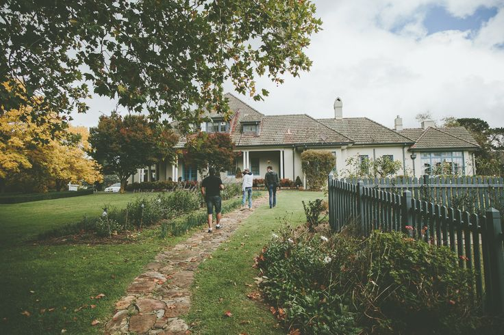 Groom and his mates killing time with a walk around Peppers Manor House in the Southern Highlands.