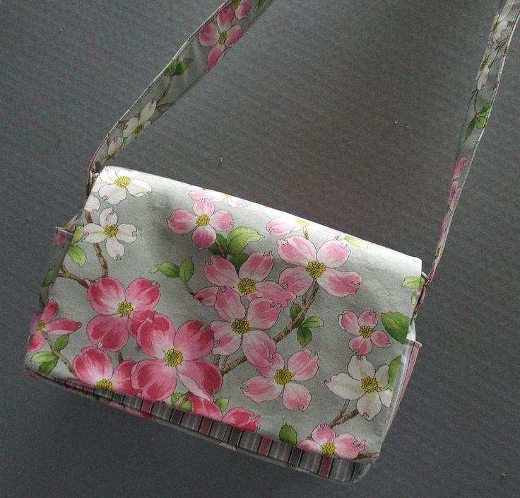 Cross Shoulder Bag or Purse Dogwood Trail Fabric by AlwaysALittleBehind on Etsy