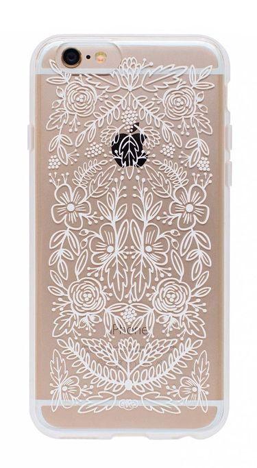 Even phone cases deserve some floral + lace. So pretty!